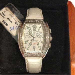 Elini Nazar Diamond leather watch